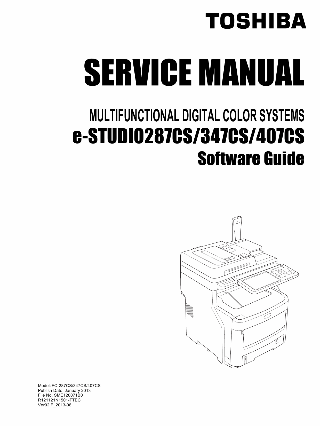 TOSHIBA e-STUDIO 287CS 347CS 407CS Software Service Manual-1
